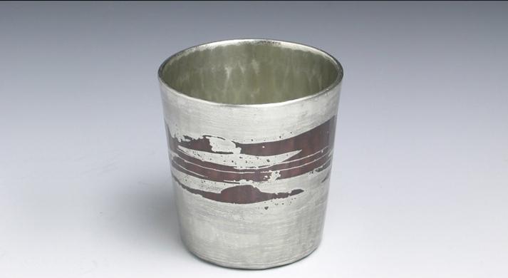 銅器 ぐい呑錫被ストレート