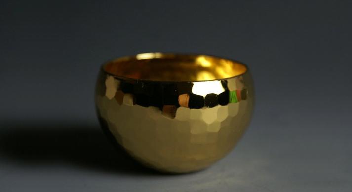 銅器 金色ぐい呑 深形 小