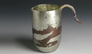 銅器 ちろり 錫被 底丸 茶 小