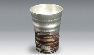 銅器 フリーカップ 錫被(小サイズ) 白