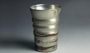 銅器 フリーカップ 錫被 刷毛目模様 (中サイズ)
