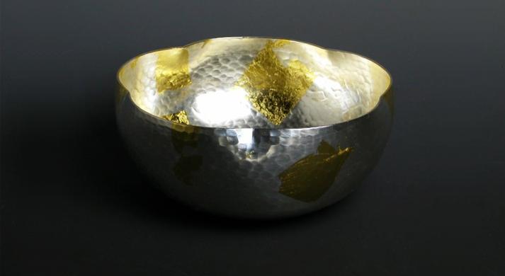 銅器 菓子器 祥雲鉢