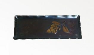 西片正のペン皿 紫金色椿大