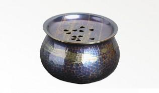 銅器 建水 風紋丸
